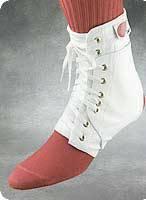 White Ankle Brace, Medium