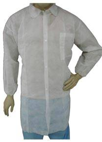 White Prolypropylene Lab Coat