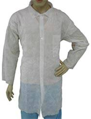 White Polypropylene Lab Coats