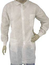 White Snap Front Lab Coats