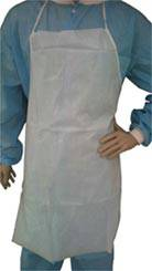 White Polyethylene Coated Aprons