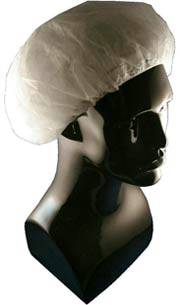 White Polypropylene Bouffant Cap