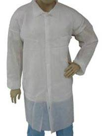 White Prolypropylene Disposable Lab Coat