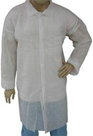 White Prolypropylene Lab Coats