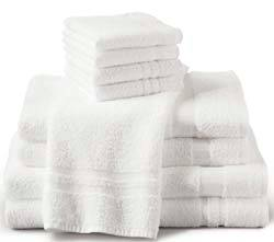 White Soft Hand Towels 16in 27in