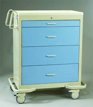Wide Aluminum Cart w/ Single Key Lock