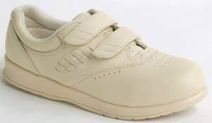 Womens Beige Hook  Loop Diabetic Shoes