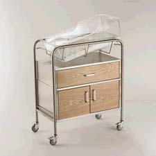 Wood Faced Hospital Bassinet