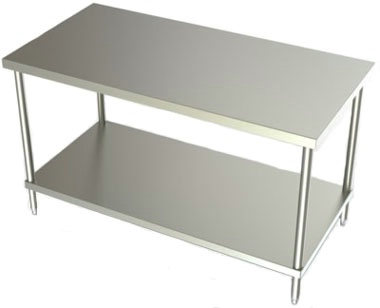 30in Wide Stainless Steel Work Table w/ SS Undershelf