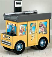 Pediatric Scale Table Zoo Bus Themed