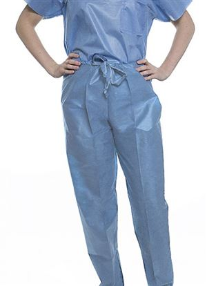 Easy-breathe scrub pants- draw string waist