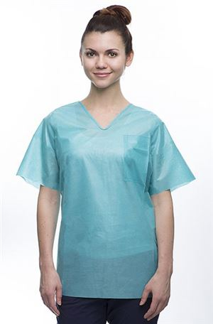 Easy-breathe sms scrub top- v neck