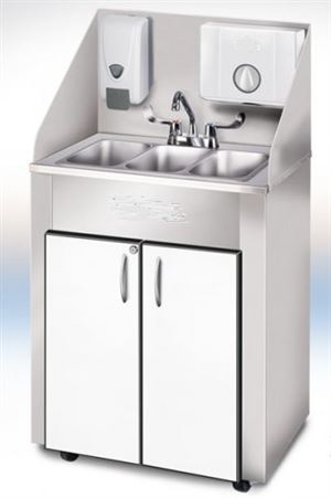PRO Series Stainless Triple Basin Portable Sink