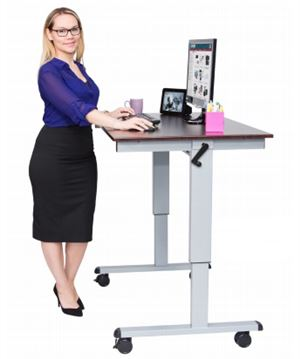 Crank Adjustable Stand Up Desk 48