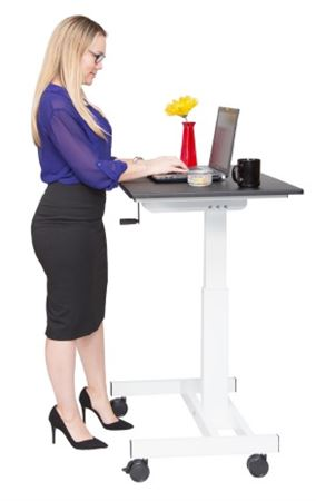 Stand Up Desk Single Column Crank