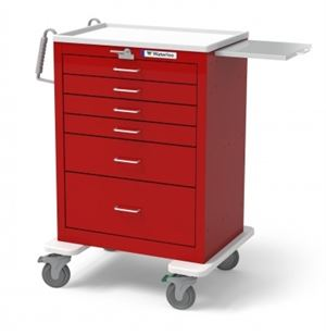 6 Drawer Tall Steel Emergency Cart