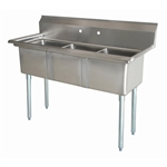 Three Compartment Stainless Steel Sinks